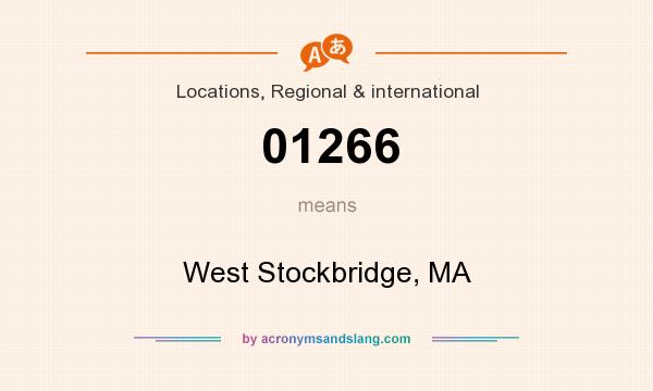 What does 01266 mean? It stands for West Stockbridge, MA