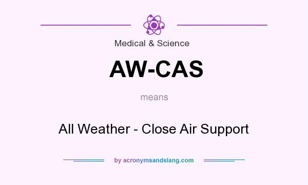 What does AW-CAS mean? It stands for All Weather - Close Air Support